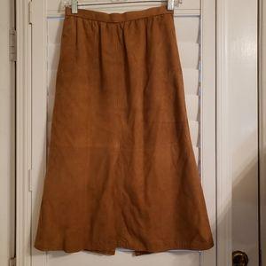 Vintage West Bay leather skirt